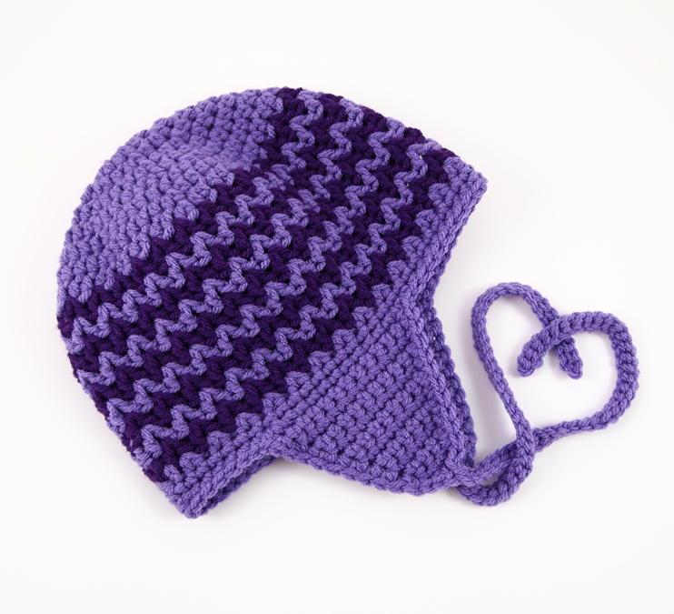 Zigzag Earflap Crochet Hat Allfreecrochet Com