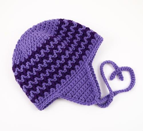 Zigzag Earflap Crochet Hat  369aec269d6
