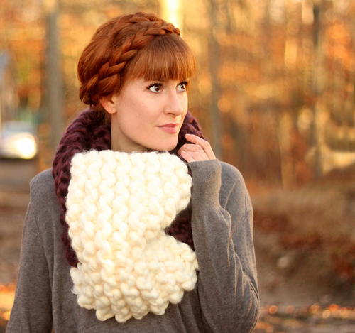 Easy Jumbo Cowl Knitting Pattern