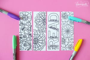 Summer Bookmark Coloring Pages