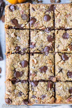 Pumpkin Oatmeal Scotchie Bars