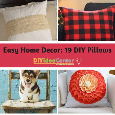 Easy Home Decor 19 DIY Pillows