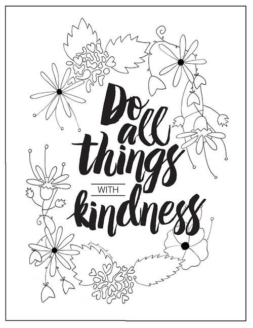 With Kindness Coloring Page FaveCraftscom