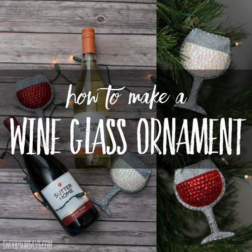 Felt Wine Glass Ornament