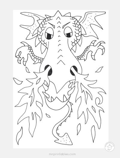 Dragon Fire Coloring Page