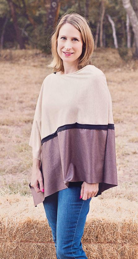 Asymmetrical Knit Poncho Pattern AllFreeSewing.com