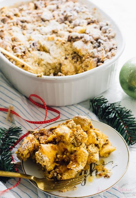 Overnight Baked French Toast Breakfast Casserole