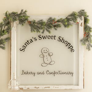 DIY Santa's Sweet Shoppe Bakery Window