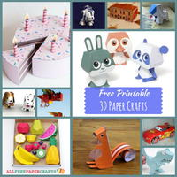 21 Free Printable 3D Paper Crafts