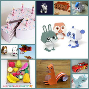 photograph about Printable 3d Paper Crafts named 3D Paper Crafts