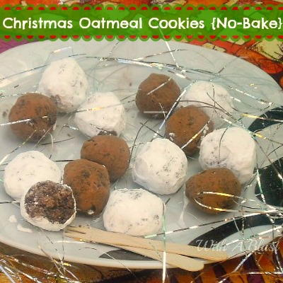 No-Bake Christmas Oatmeal Cookies