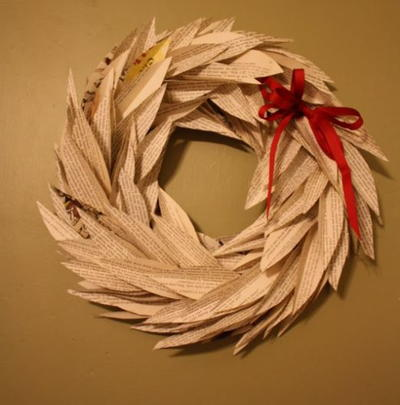 Book Leaf Wreath