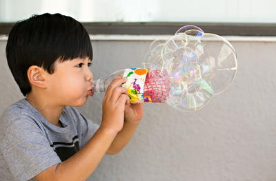 Easy Recycled Bottle Bubble Blower