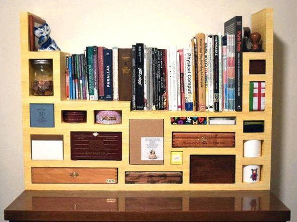 Tetris Design Diy Cardboard Shelves Diyideacenter Com