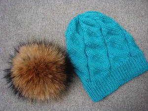 Azure Cable Knit Hat