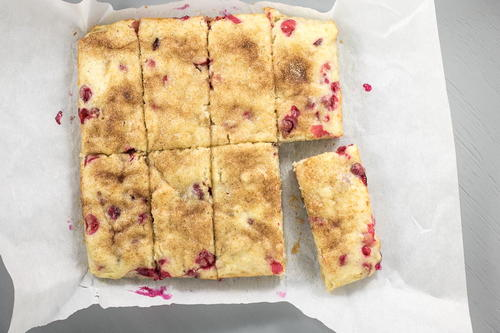 Vegan Cranberry Ginger Snack Cake