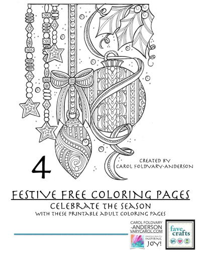 celebrate the holiday season with these printable adult coloring pages in 4 festive holiday coloring pages for adults youll have a lovely time unwinding - Free Adult Coloring Books