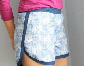 Varsity Blues Jogging Shorts Pattern