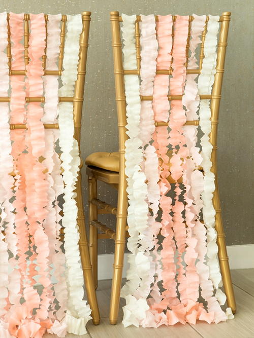 Crepe Paper Chair Garland