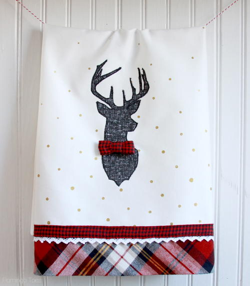 Dapper Deer Dish Towel Tutorial