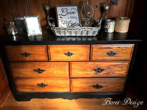 An Old Dresser Becomes a New Buffet