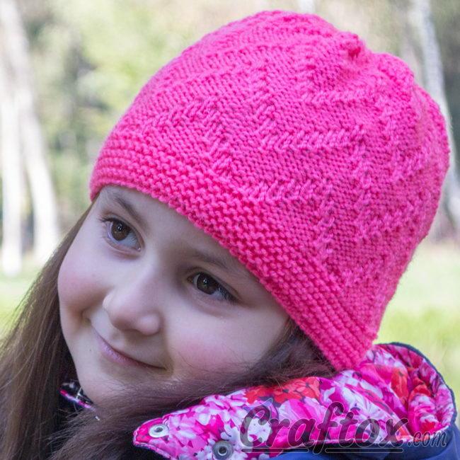 Zig Zag Stitch Loom Knitting : Zigzag simple beanie allfreeknitting