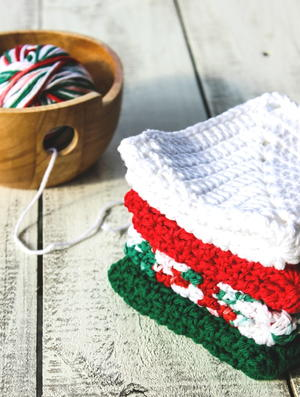 Christmas Granny Square Dish Cloths