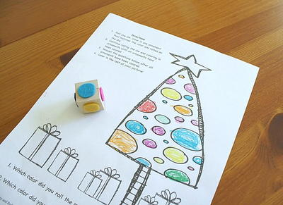 Simple Printable Christmas Coloring Game