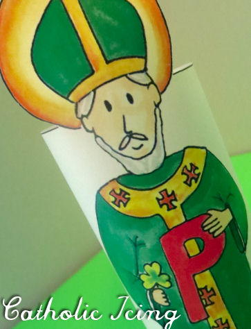 Printable Saint Patrick Craft