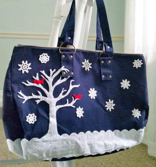 Winter Wonderland DIY Bag Makeover