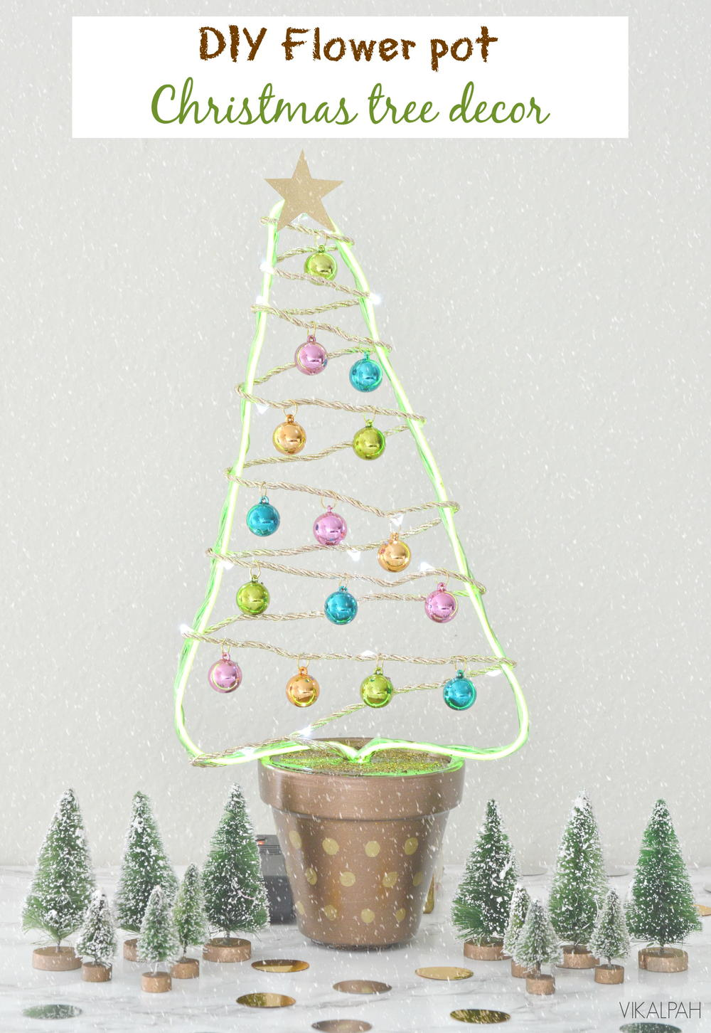 Diy Flower Pot Christmas Tree Decor Favecrafts Com