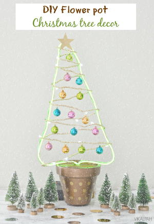 DIY Flower Pot Christmas Tree Decor