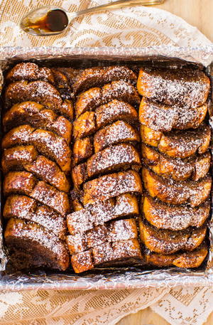 Overnight Gingerbread French Toast Bake