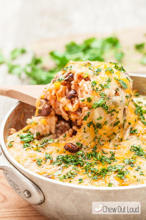 Southwest Chicken and Rice Casserole