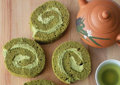 Green Tea Cake Roll