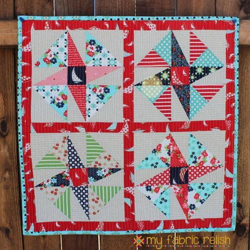 Wind Sail Mini Quilt Pattern