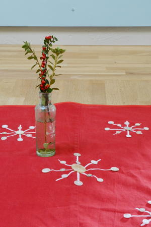 Recycled Button Table Runner