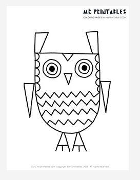Zigzag the Owl Coloring Page