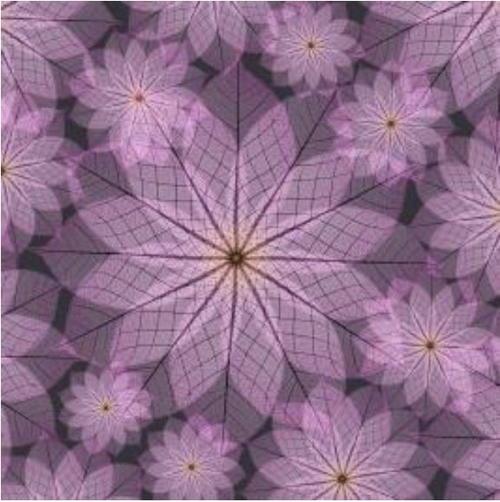 purple flower printable origami paper