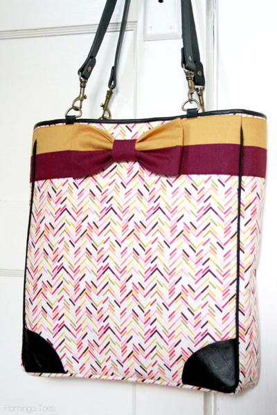 Kate Spade-Inspired Bow Tote Tutorial