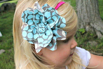 Fancy Fabric Flower Headband