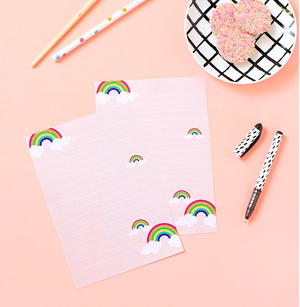 image about Free Printable Stationery Paper named Rainbow Get pleasure from Cost-free Printable Stationery Paper
