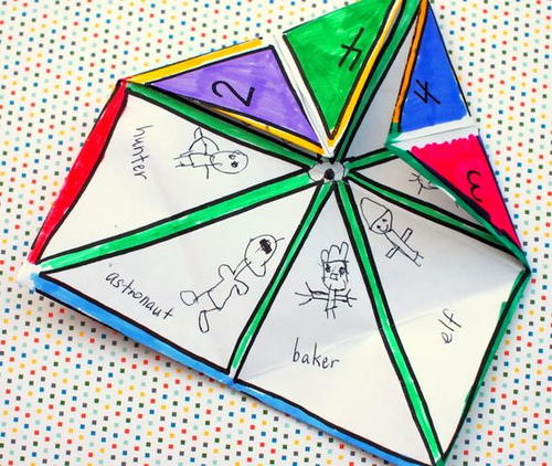 When I Grow Up Paper Fortune Teller