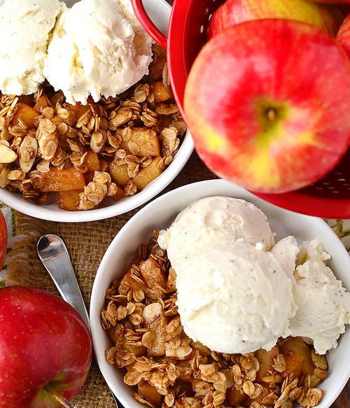 Stovetop Apple Crisp for Two