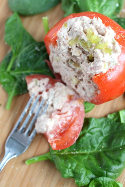 Tuna Salad Stuffed Tomatoes