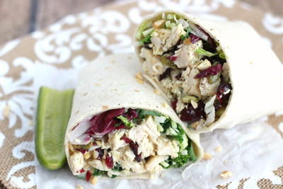 Cashew Chicken Salad & Kale Wraps