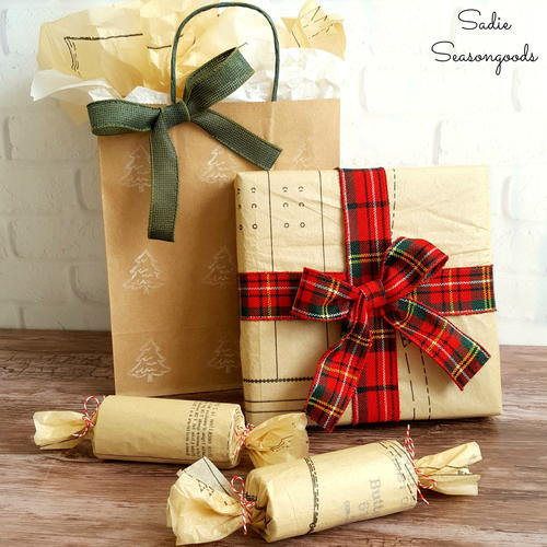 Thrifty Christmas DIY Gift Wrap