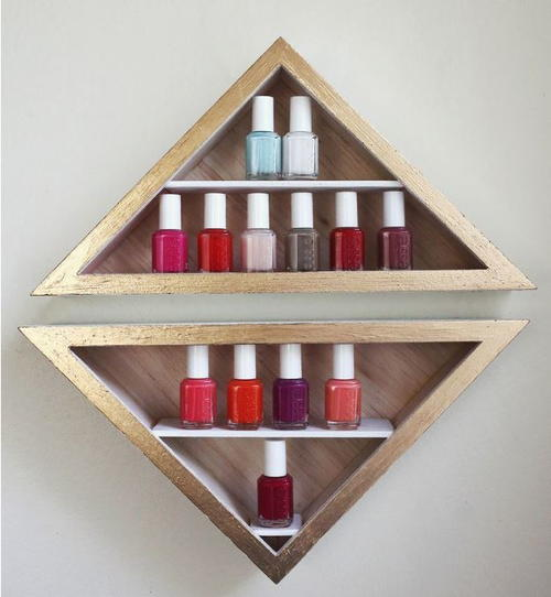 Modern Triangular DIY Nail Polish Rack