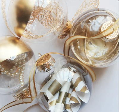 Affordable Gold Dipped Ornaments