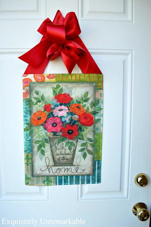 Garden Flag Door Hanger